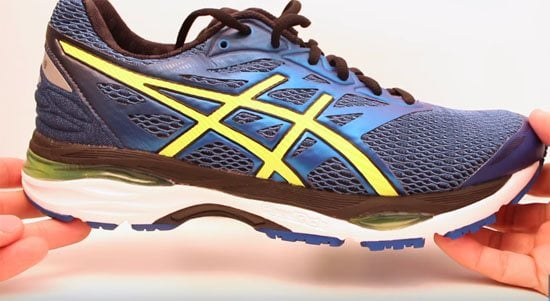 asics gel cumulus trainers with wheels